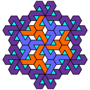 """Fancy Pinwheel"" Coloring Pattern"