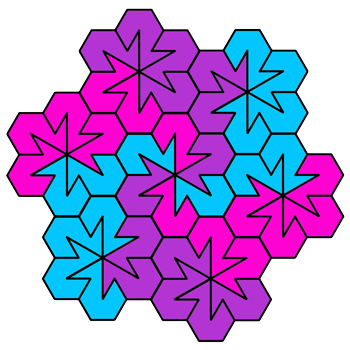 """Spiky Twos"" Coloring Pattern"